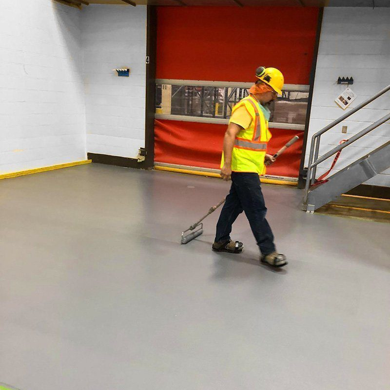 We install industrial floor coating systems