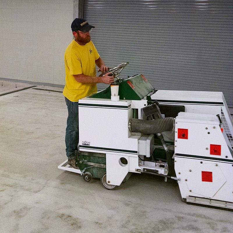 concrete surface preparation for coating