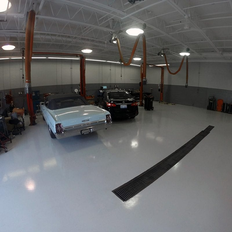 Commercial Garage Epoxy Coating Grand Rapids