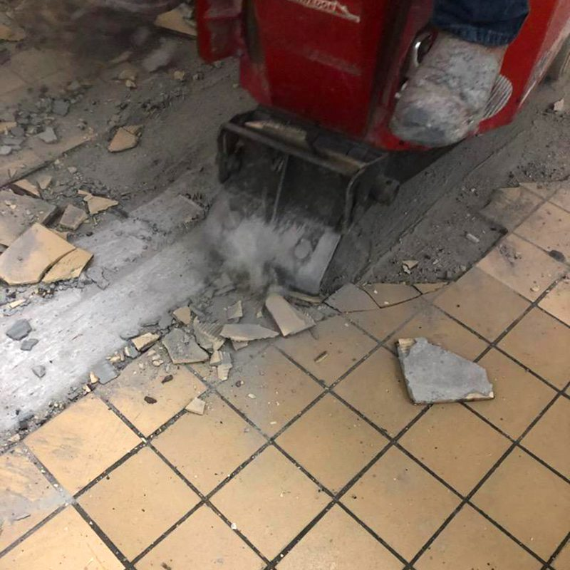 Removal of Tile