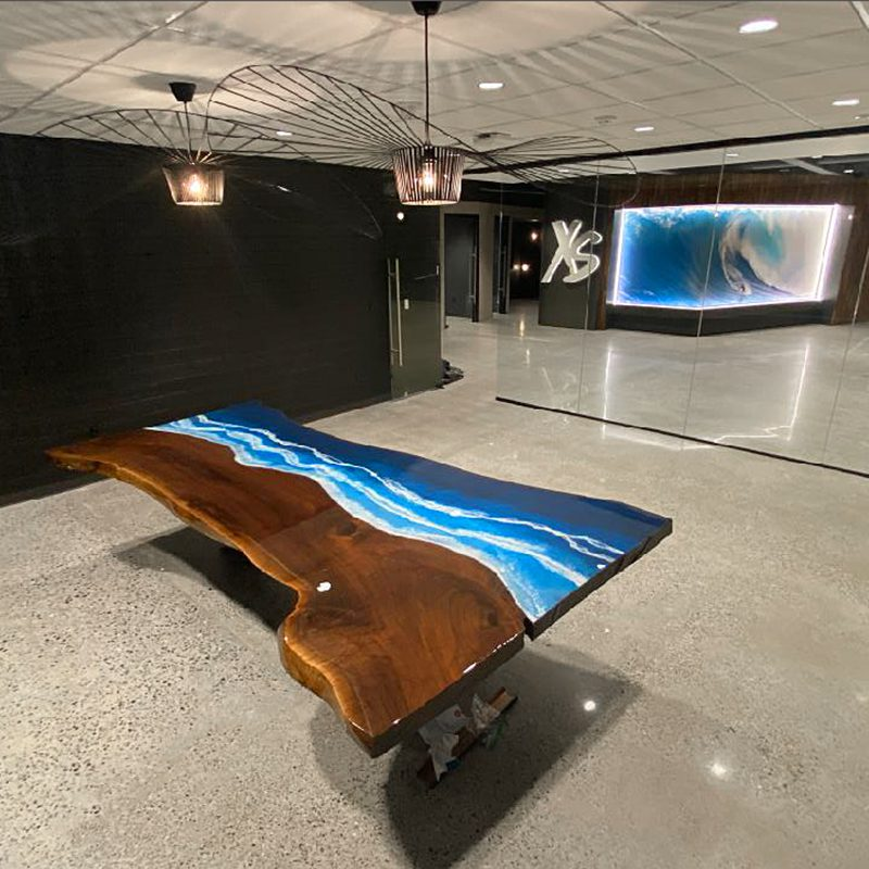 Polished Concrete and Epoxy Table